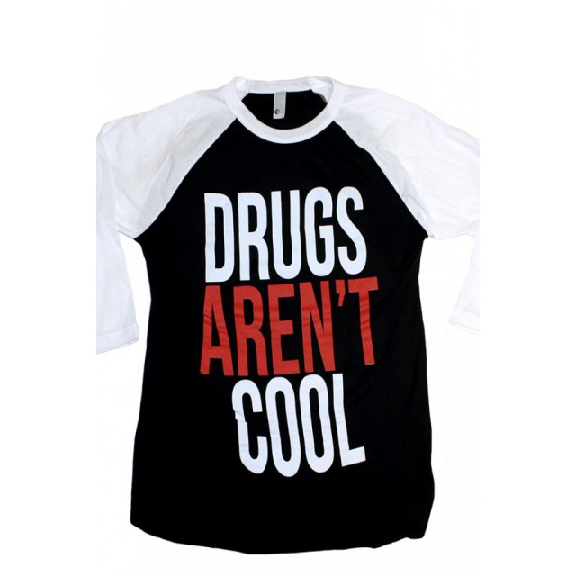 Drugs Aren't Cool 3/4 Baseball Tee
